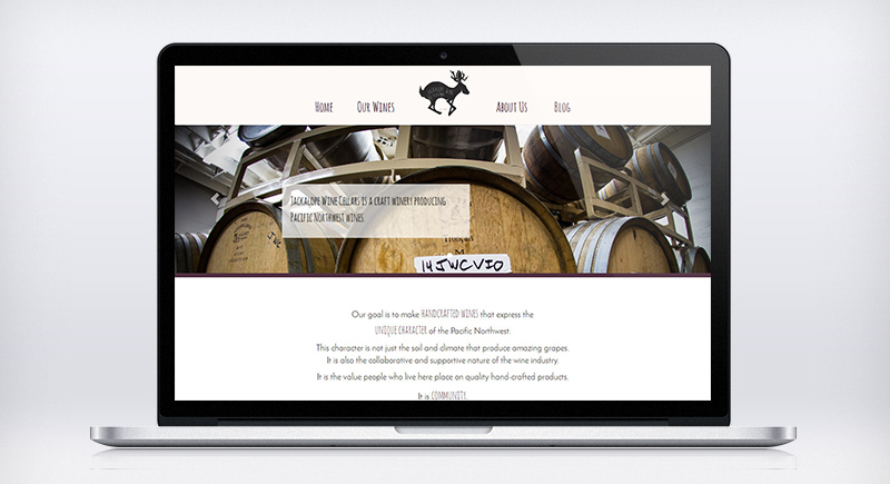 Jackalope Wine Cellars Website graphic